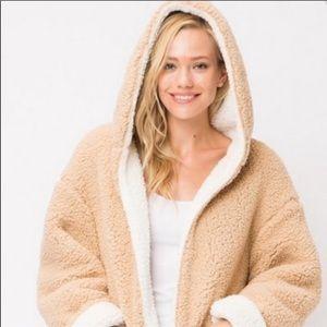 Sweet Rain | Reversible Faux Shearling Teddy Coat